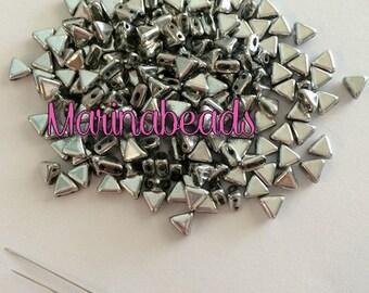 Khéops ® par Puca Beads 50 pcs  Color : Silver