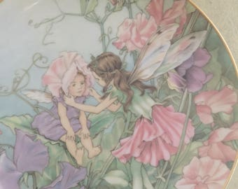 Collectable Sweet Pea Fairy Plate Heinrich Villeroy Boch Germany Numbered