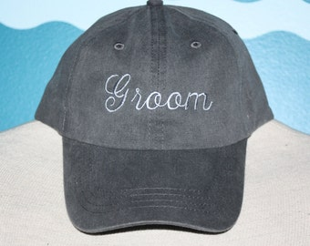Groom Baseball cap - wedding baseball cap - wedding ball cap - custom baseball hat - Embroidered baseball hat - groom baseball hat
