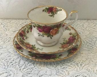 Royal Albert Old Country Roses Tea Trio