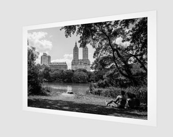 Relaxed by the Lake in Central Park Fine Art Print,1:50 Limited Edition / home decor / decoration / photo / photography / black and white