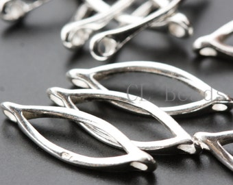 2 Pieces Sterling Silver Eye Links - 17x15mm