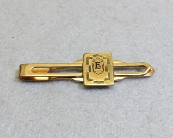 1920s Art Deco, Dirigold Initial E Tie Clip