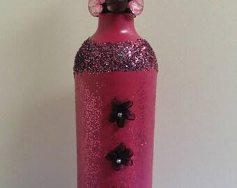 Magenta Wine Bottle & Vase