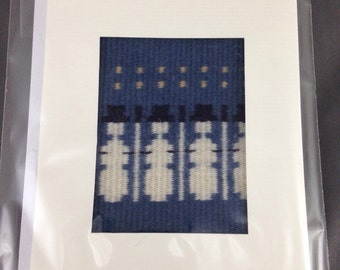 Handwoven Xmas card