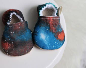 Cosmic Astronomy Baby Shoes, Baby Boy Shoes, Baby Girl Shoes, Star Baby Shoes, Baby boy Moccasins, Baby Girl Moccasins, Baby Shoes