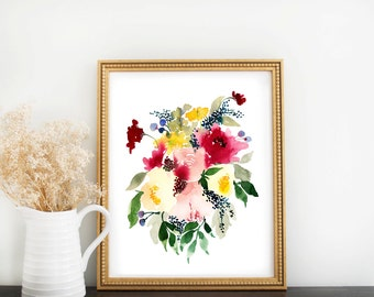 Floral Painting: Rainbow Bouquet