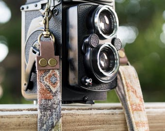Navajo Camera Strap Custom for DSLR - Aztec - Mirrorless and Film Camera - Quick Release - Hand Made to order -limited edition FREE SHIPPING