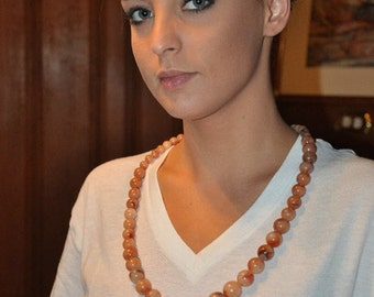 Vintage 1970's Chunky Beaded Necklace