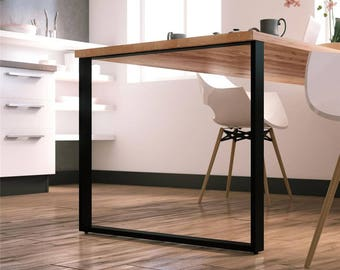 steel table legs etsy. Black Bedroom Furniture Sets. Home Design Ideas