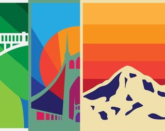 BUNDLE — 3 Oregon Posters