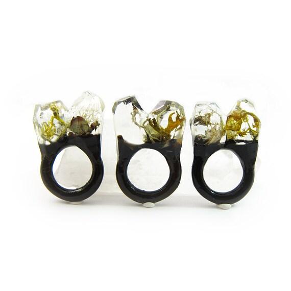 Moss Resin Ring • Nature Inspired Rings • Terrarium Ring • Terrarium Moss Jewelry • Botanical Ring •  • Size 6