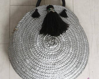 Straw Bag, Beach Straw Bag, Round Straw Handbag, Handmade Bags Beach, Handmade Straw Bag, Straw Bag, Beach Bag Round, Round Tote Bag
