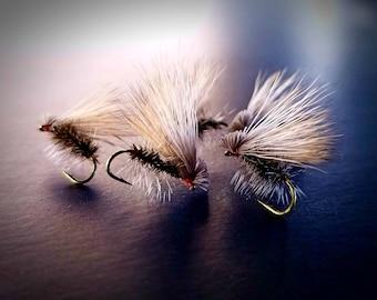 Fly Fishing Flies- 4 Elk Hair Caddis Flies (size 14)