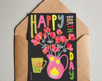 3 x Paper Cut Collage Happy Birthday Card Verjaardagskaart Kaartje