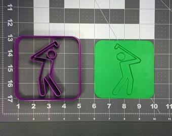 Golf Icon 101 Cookie Cutter