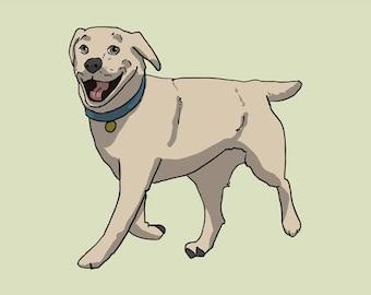 Labrador Postcard: Blank