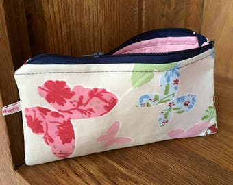 Butterfly wallet, pouch, pencil case, make up bag