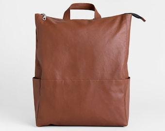 Rucksack, Vegan backpack, Graduation Gift, Backpack women, Backpack men, Brown Leather backpack, Laptop backpack, Vegan bag, Travel bag