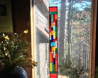 Glittering Sundancer stained glass panel gift glass art suncatcher stained glass window