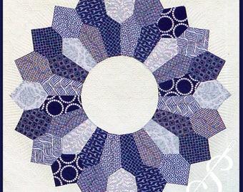 Winter Blues: A dresden plate quilt pattern