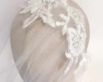 Bridal birdcage veil, birdcage veil, bridal veil, blusher birdcage veil,