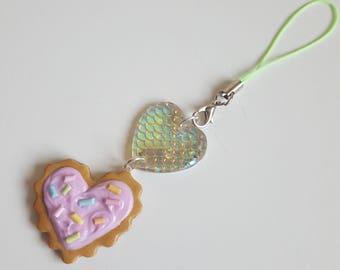 Heart Cookie & Mermaid Heart Charm