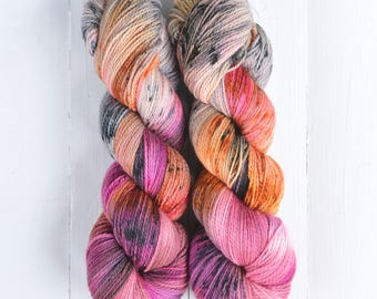 NEW COLORWAY! Hand Dyed Tough Sock Yarn - Little Missy