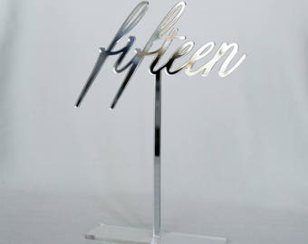 Mirror acrylic Table Numbers, Wedding Table Numbers, Wedding Table Numbers Set, Wedding Table Decor, Table Numbers,