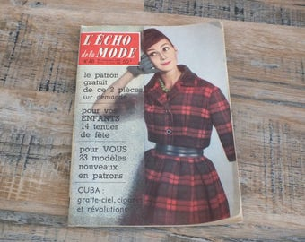 Magazine The Echo of the Fashion number 48 of November 29th, 1959, French fashion, Woman magazine