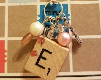 Scrabble tile E necklace