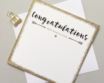 Congratulations card - New job card - Exam pass card - Well done card - You did it card - Congrats card