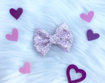 Pink Ice Crystal Brooke bow
