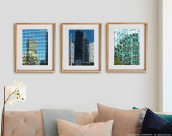 Architectural 3V Print Collection.  Architecture photography, buildings, new york, wall art, artwork, large format photo.