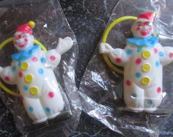 Plastic Vintage Clown Cake Toppers