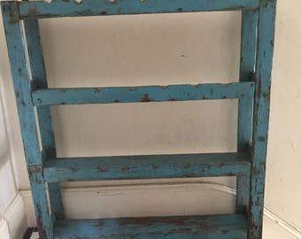 Vintage, rustic look shelving unit