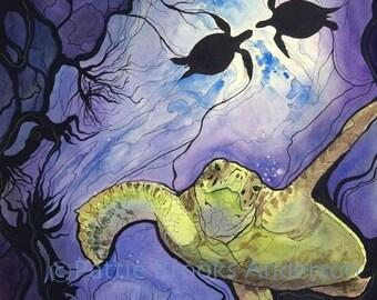 Sea Turtle, Signed Open Edition