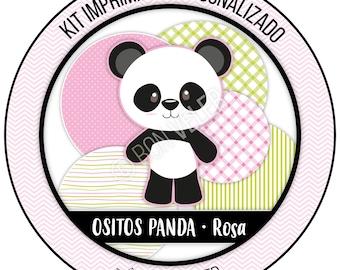 Pink PANDA Bears · Custom printable Kit