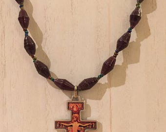 San Damiano Crucifix Necklace