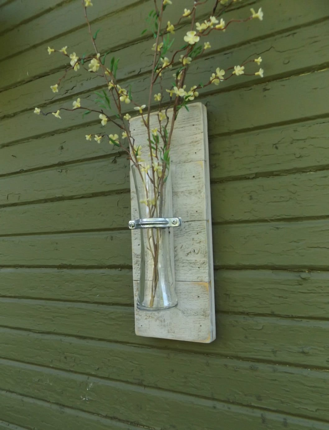 Rustic wall sconce wood wall sconce vase sconce white wall description this rustic wood wall sconce reviewsmspy