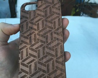 Wood Case for iPhone Pattern v.2