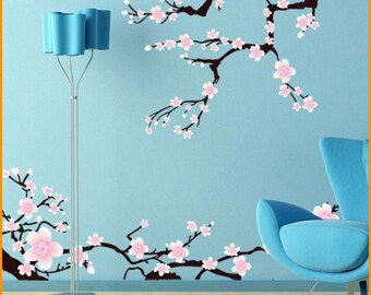 Sakura | japan cherry blossom | floral wall decal | baby flower sticker | vinyl sticker pack | laundry wall decal | woodland wall decal