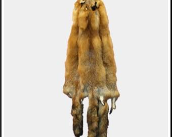 Glacier Wear Quebec Wild Red Fox Pelt Hide Tanned Fur