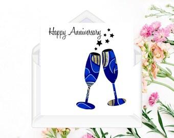 African Fabric/Ankara/Wax Print Greeting Card/Anniversary - SPTD46B