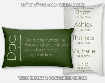 Daughter to Father Gift from Daughter to Dad Father Daughter Gift Wedding Gift for Father of the Bride Gift from Bride Custom Pillow Slip