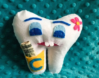 Personalized Tooth Fairy Pillow, Loose Tooth Gifts, Lost Tooth Gifts, Dental Gifts
