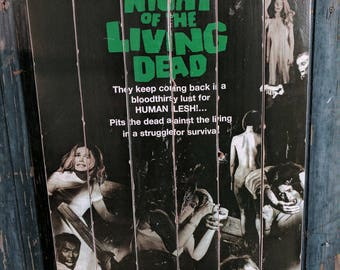 Night of the Living Dead Large Wood Art