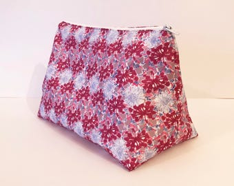 Large Handmade Floral Wash Bag Waterproof Outside and Inside (free soap & glory product with each washbag)