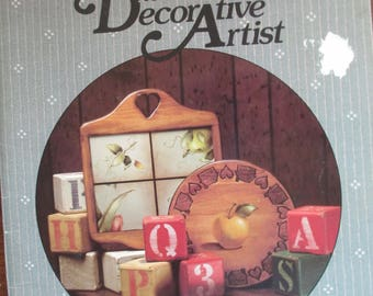 """Folk Art 1986 Decorative book """" Basics for the Decorative Artist """" by Aleen Bratton 57 pages used book"""
