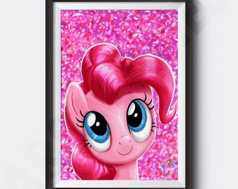 My Little Pony Painting | Pinkie Pie | PRINT | Poster  #T20